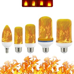 3W 5W 7W 9W E27 E26 E14 E12 85 - 265V - LED - flame fire effect light - bulb