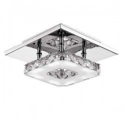12W AC 85 - 260V LED crystal pendants stainless steel ceiling light lamp