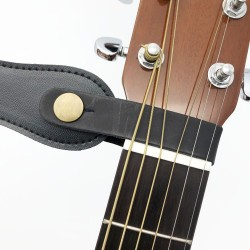 Leather guitar strap - holder