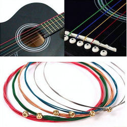 Cuerdas guitarra coloreadas 6 pcs set