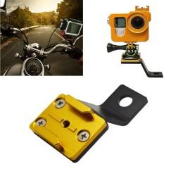 GoPro 6 / 5 / 4 / 3 / 2 / 1 Sj4000 Xiaomi Yi camera aluminum holder adapter rearview bracket mount