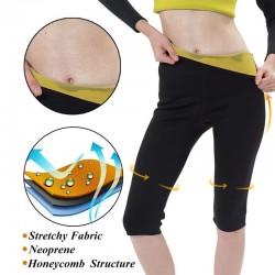 Efekt sauny fitness termo wyszczuplające legginsy spodnie