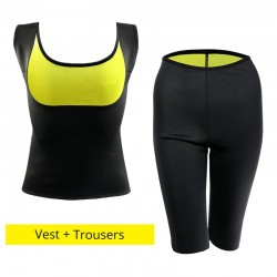 Slimming pants & vest fitness training set weight loss