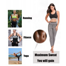 Sauna effect neoprene body shaper slimming fitness pants leggings
