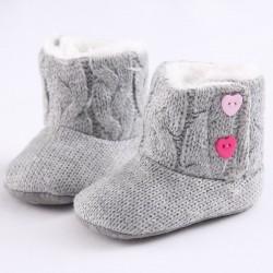 Neugeborene - Baby warme gestrickte Stiefel - Schuhe