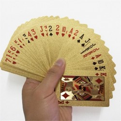 Gold foil poker playing cards waterproof