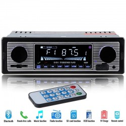 Radio per auto 12V 1 DIN Bluetooth stereo FM MP3 USB SD AUX