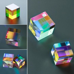 X- cube 6 - sided bright light glass prism optical lens