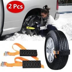 Chaine pour pneu voiture d'émergence 2 pcs