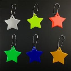 Odblaskowa gwiazdka brelok do kluczy