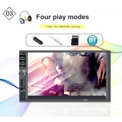 Bluetooth 7'' Inch Din 2 LCD touch screen car radio player MirrowLink