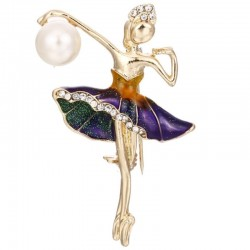 Ballerina kristallen broche