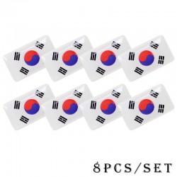 3D national flag emblem car sticker 8 pcs