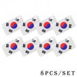 3D national flag emblem car sticker 8 pcs