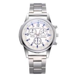 Analogowy zegarek kwarcowy ze stali nierdzewnej