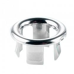 Bathroom sink overflow ring