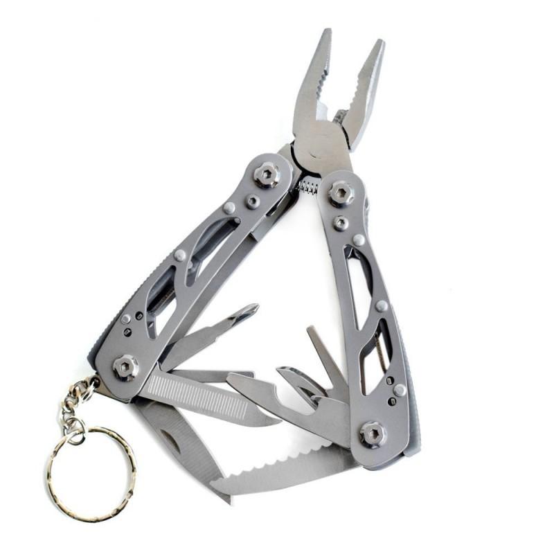 Multifunctional mini foldable multi tool keychain keyring