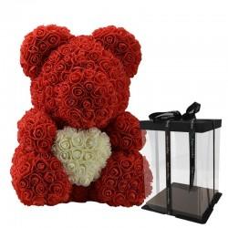 Infinity Rosen Stieg Bär Teddybär mit Herz 40 cm