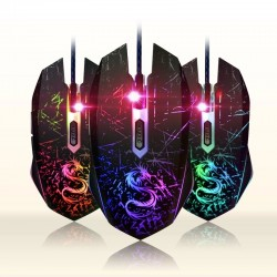 USB color changing computer optical wired gaming mouse