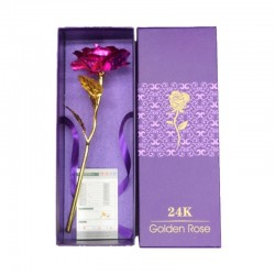 Infinity golden rose with Love holder & box