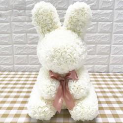 Infinity rose flower easter bunny 40 cm