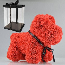 Hund aus Infinity Rosen 40 cm