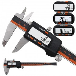 Stainless steel caliper - high precision - stainless steel with LCD display
