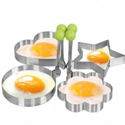 Stainless steel mould shaper for frying eggs & pancakes