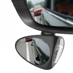 2 in 1 left & right 360 rotation adjustable car rear view mirror
