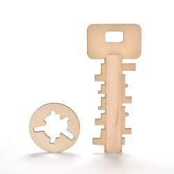 Drewniany klucz puzzle zabawka