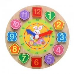 Hölzerne Puzzleuhr mit 12 Zahlen Spielzeug