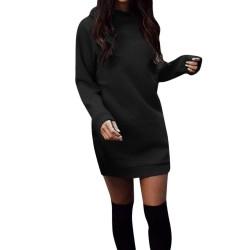 Ciepła mini sukienka z długim rękawem