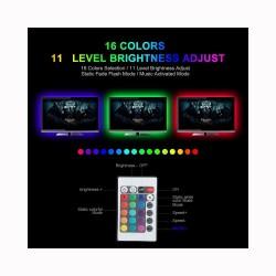 1M / 2M / 3M RGB 5050SMD LED TV background lighting strip - USB connection - remote control