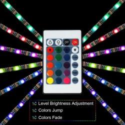 1M / 2M / 3M RGB 5050SMD LED-TV-Hintergrundbeleuchtung - USB-Anschluss - Fernbedienung