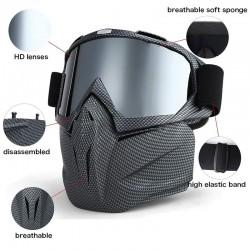 Narciarskie gogle snowboardowe - maska pełnotwarzowa