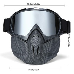 Skiing snowboard goggles - full face mask