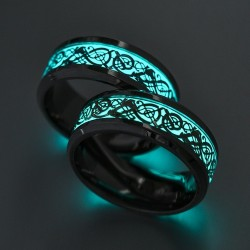 Glowing in the dark fluorescent ring - unisex