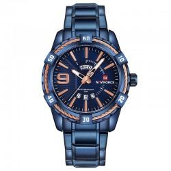 Sportowy wodoodporny zegarek ze stali nierdzewnej