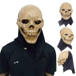 Skull - Vollgesichtsmaske aus Latex für Halloween