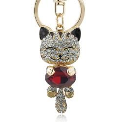 Kryształowy kot - brelok do kluczy