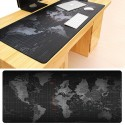 Extra long anti-slip mouse pad - gaming mat - World Map - rubber with lock-edge