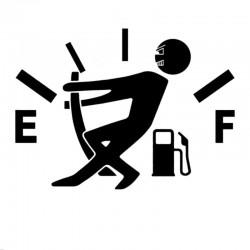 Gas - fuel - vinyl cartoon car sticker