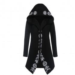 Gothic & Punk stijl - lange sweatshirt - losse hoodie - katoen
