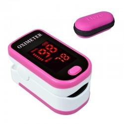 LED-Anzeige - Finger-Pulsoximeter mit Schutzhülle