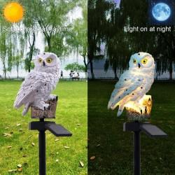 Kształt sowy - zasilana energią słoneczną - zewnętrzna - lampa ogrodowa