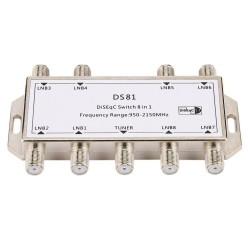 8 in 1 - satellietsignaal - DiSEqC-schakelaar
