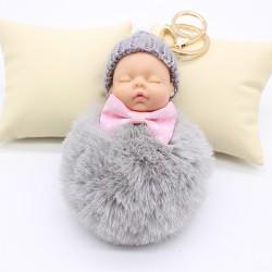 Śpiące dziecko - brelok do kluczy