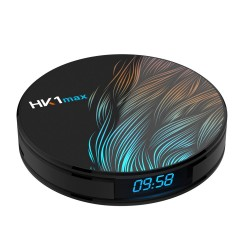 HK1 Max RK3328 4GB 64GB Android 9 5G WIFI Bluetooth 4 - 4K VP9 H.265 HDR10 TV Box with time display