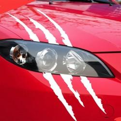 Ślady pazurów - odblaskowa naklejka samochodowa 40 * 12cm