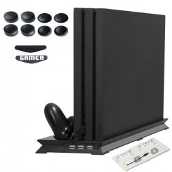 Playstation 4 Pro - podstawa radiatora - pionowy stojak - wentylator chłodzący - stacja ładująca - USB Hub